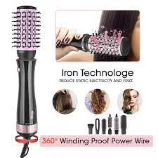 DSP yeni 7 IN 1 bir adım saç kurutma makinesi soğuk sıcak hava fırça saç  düzleştirici tarak Curling fırça saç şekillendirici araçları fön makinesi  fırça|Hair Dryers