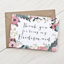best 25 bridesmaid thank you cards ideas on pinterest cute Wedding Thank You Cards No Pictures thank you for being my bridesmaid flower girl maid of honour card bridesmaid thank you card wedding wedding thank you cards photo