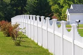 white picket fence. A More Grand Style Of White Picket Fence, With Taller Pickets For Privacy. Fence