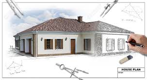 Impressive Architectural House Drawing C And Concept Design