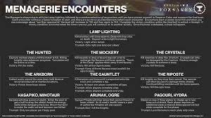 Menagerie Encounter Guide Destinythegame