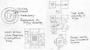 Form And Design Louis Kahn First Unitarian Church Plan Google Search Drawing