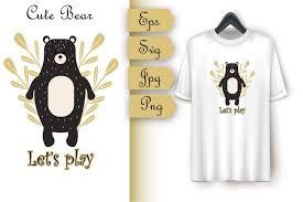 2,000+ vectors, stock photos & psd files. Cute Bear Let S Play Vector Composition 902923 Illustrations Design Bundles In 2020 Cute Bears Lets Play Alphabet Illustration