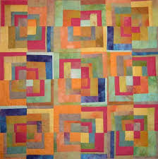 "77 best hand dyed fabric quilt images on Pinterest | Modern ... & Sherbet Logs by Loris Bogue 36"" x 36"" 2005 Cotton fabric hand dyed by Adamdwight.com"