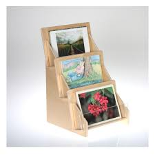 Wooden Greeting Card Display Stand Postcard Display Racks and Holders from Clear Solutions 21