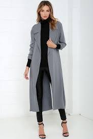 night drive grey trench coat