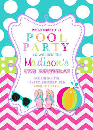 Hawaiian Pool Party Invitations Pool Party Invite Ideas Under Fontanacountryinn Com