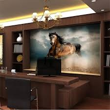 office backdrop. HHigh Quality Cloth Mural Flash Photo Wallpaper Perspective Office Backdrop Painting Galloping Horse Wallpaper-in Wallpapers From Home