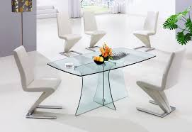 cool dining room decoration with glass dining table design impressive small modern white dining room