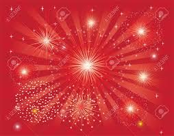 Red Light Burst Red Fireworks On Red Light Burst Background