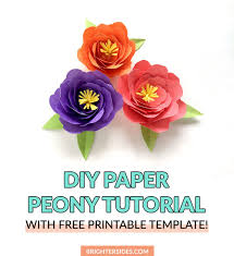 Peony Paper Flower How To Make Paper Flowers Peony Tutorial Brighter Sides