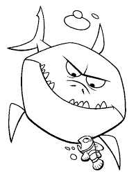 Finding Nemo Bruce Sinister Finding Nemo Coloring Pages
