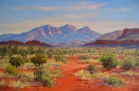 painting on location at simpsons gap alice springs mt sonder west macdonnell ranges alice springs central australia sold
