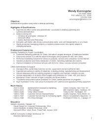 Administrative Desktop Publishing Resume Sample Danetteforda