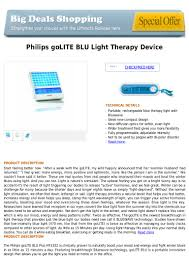 Philips Golite Blu Energy Therapy Light Philips Go Lite Blu Light Therapy Device