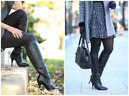 classic black leather knee high heel boots stuart weitzman black leather park boots how