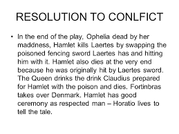 hamlet william shakespeare essay revision the ending act ppt  2 resolution