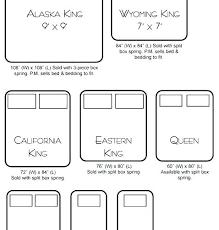 Bed Chart Wyoming King Bed Vishalkumar Co