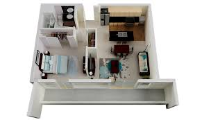 """40 One """"40"""" Bedroom ApartmentHouse Plans Architecture Design Unique One Bedroom Apartment Designs"""