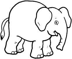 Small Picture Realistic African Elephant Coloring Page Online Printable Animal