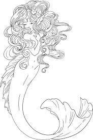 Little Mermaid Cute Mermaid Coloring Pages Mermaid Coloring