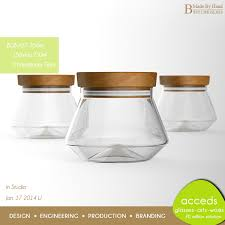 Decorative Glass Jars Wholesale Decorative Clear Handblown Borosilicate Tea Sugar Glass Coffee 24