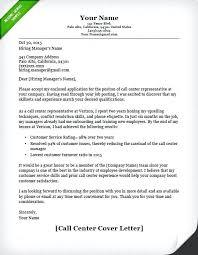 Employment Application Letter Sample Call Center Cover Letter