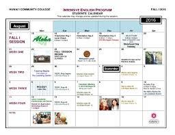 Calendar Doc 2016 Fall I Students Calendar Doc 1 Intensive English