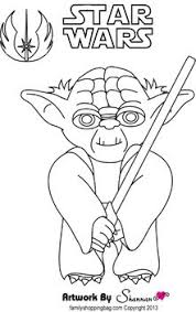 Small Picture Yoda Star Wars Coloring Pages Free Printable Ideas from Family