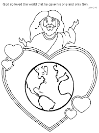 Extraordinary Design Ideas John 3 16 Coloring Pages Jesus John3
