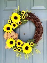 Front Door Wreath For Summer Outdoor Wreaths