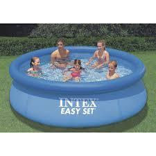 intex above ground swimming pool. Intex Easy Set Above Ground Swimming Pool \u2014 10ft. Dia. X 30in.H