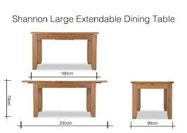 dining room extendable tables. Contemporary Extendable Dimension Image Of Large Shannon Extendable Table 79cm Height X 180cm  Width Throughout Dining Room Extendable Tables E
