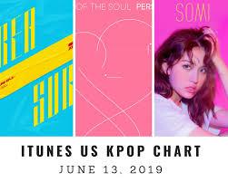 All Kpop Chart Itunes Us Itunes Kpop Chart June 13th 2019 2019 06 13