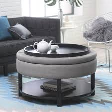 belham living dalton coffee table storage ottoman with tray shelf in coffee table and ottoman