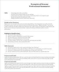 Professional Profile In Resumes Examples Of Profiles On Resumes Profile Resume Example Examples Of
