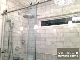 inspiring bathroom decoration using modern tile shower wall entrancing picture of white marble subway