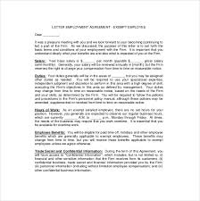 exempt employee employement agreement letter download business agreement sample letter
