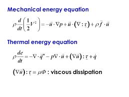 mechanical energy equation