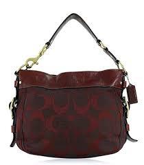 Coach Signature Convertible Large Zoe Hobo Shoulder Bag, Burgundy F14708