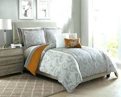 gray striped bedding blue piece taupe orange ivory comforter set w sheets and white curtains be ticking stripe bedding