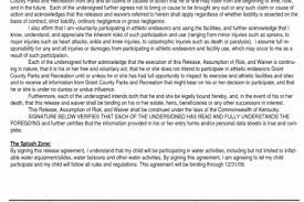 Best Cover Letter Template 2018 » Free Liability Release Form Audio ...