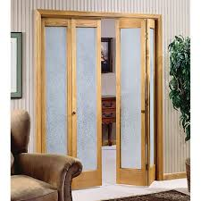 charming frosted glass bifold home depot interior doors with elegant wall papers and brown leather chair