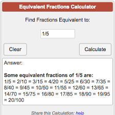 Equivalent Fractions Calculator
