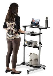 mount it mobile stand up desk height adjule computer work station rolling presentation cart mi 7940 stand up desk