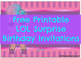 Birthday Party Evites Free Printable Lol Surprise Birthday Party Invitations