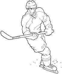 Small Picture Amazing Hockey Player Coloring Page NetArt