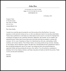 Sample Cover Letter Employment Professional Employee Cover Letter Sample Writing Guide