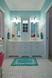 bathroom counter storage tower. tiffany blue paint in white bathroom with mosaic floor counter storage tower d