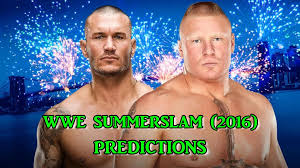 wwe summerslam 2016 randy orton vs brock lesnar predictions wwe 2k16 you